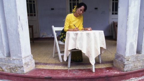 """While under house arrest, Suu Kyi won the Nobel Peace Price in 1991. She was honored """"for her non-violent struggle for democracy and human rights."""""""