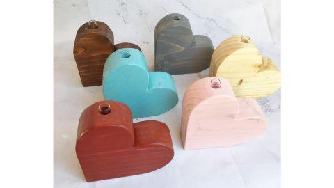 Country Carpentry Art Small Heart Bud Vase