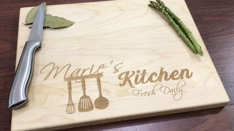ChicMakings Personalized Cutting Board