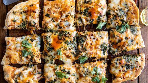 Tieghan Gerard of Half Baked Harvest's Sheet Pan Buffalo Chicken Pizza