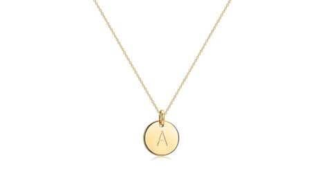 Befettly 14K Gold-Plated Initial Necklace