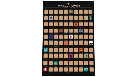 Enno Vatti 100 Movies Scratch-Off Poster