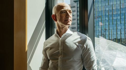 Jeff Bezos, the founder of Amazon, is photographed in Seattle in 2017.