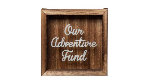 Genie Crafts Wooden Shadow Box Bank