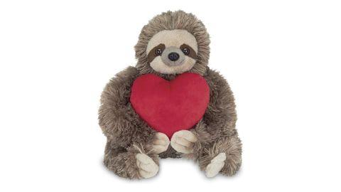 Bearington Sloth Stuffed Animal Holding Heart