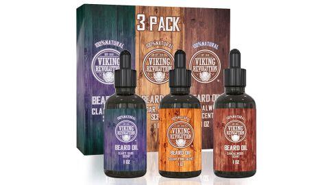 Viking Revolution Beard Oil, 3-Pack