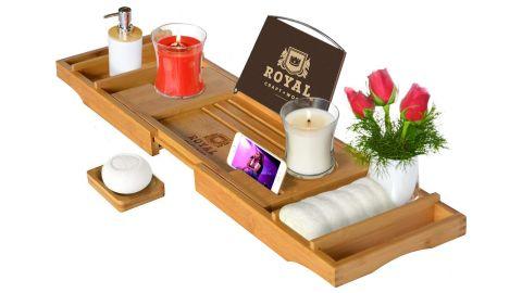 Royal Craft Wood Luxury Bath Caddy Tray