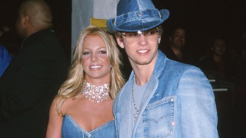 Spears and Timberlake attend the American Music Awards together in 2001. The two dated for a few years.