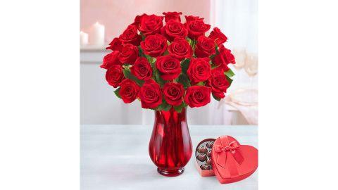 2 Dozen Romantic Red Roses