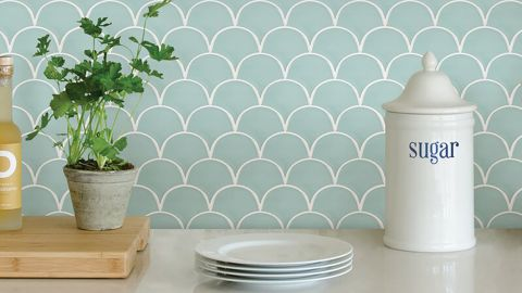WallPops! 10-Inch-by-10-Inch Resin Peel-and-Stick Field Tile