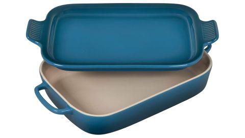 Le Creuset Heritage Casserole Stoneware Rectangular Dish With Platter Lid