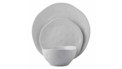 CaterEco Melange Stoneware 36-Piece Irregular Shape Dinnerware Set