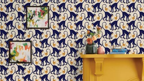 Opalhouse Monkey Play Peel & Stick Wallpaper