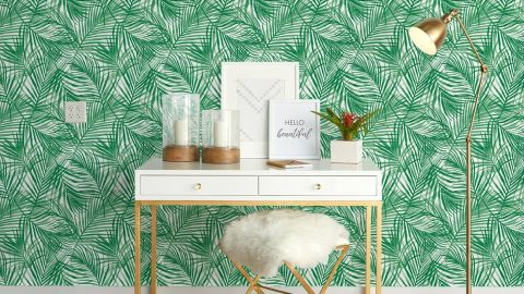 Opalhouse Tropical Peel & Stick Wallpaper Green