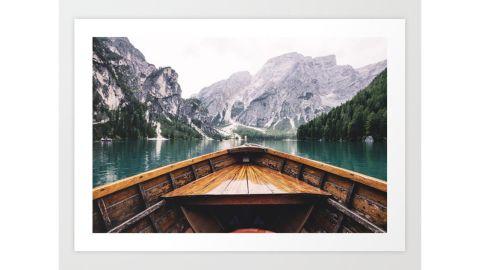 Groppo Mountain Lake Art Print