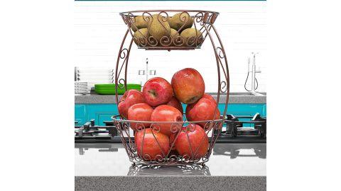 Simple Houseware 2-Tier Countertop Fruit Basket