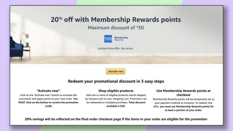 Targeted American Express card members may be able to get 20% off at Amazon for up to $30 in savings, or one of several other offers.