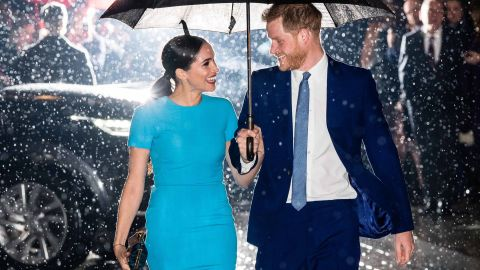 Harry and Meghan attend the Endeavour Fund Awards in London in March 2020.