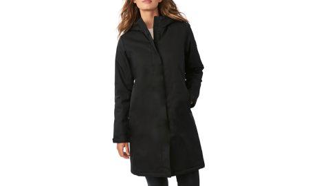 Bernardo Hooded Windproof & Water-Resistant Insulated Raincoat