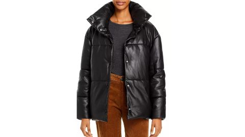 Bagatelle Oversize Faux Leather Puffer Jacket