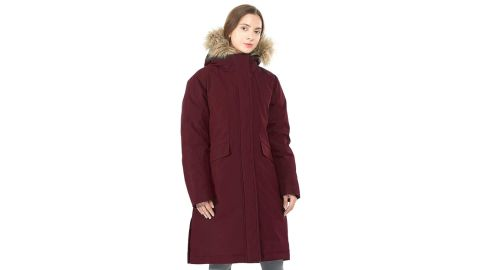 Gymax Women's Long Down Parka With Removable Faux Fur Hood