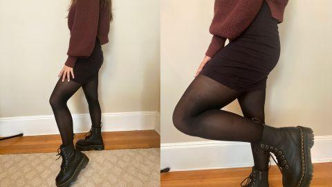 Wearing Sheertex's Classic Sheer Tights