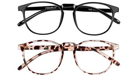 Feiyold Blue-Light-Blocking Glasses, 2-Pack