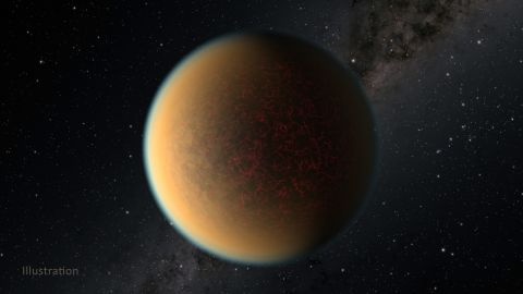 After losing its gaseous envelope, the Earth-size core of an exoplanet formed a second atmosphere.  It's a toxic blend of hydrogen, methane, and hydrogen cyanide that is likely fueled by volcanic activity occurring beneath a thin crust, leading to its cracked appearance.