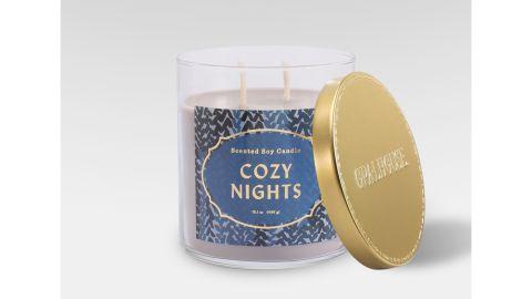 Opalhouse Lidded Glass Jar 2-Wick Cozy Nights Candle