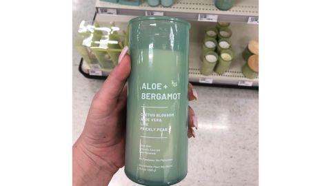 Project 62 Glass Jar Wellness Aloe and Bergamot Candle