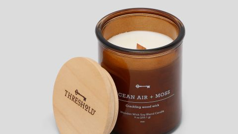Threshold Crackling Wooden Wick Ocean Air and Moss Candle