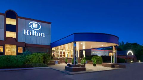 The Hilton London Watford hotel in England on the northwest outskirts of London.