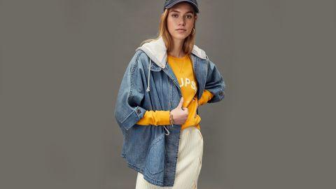 Anthropologie Pilcro Denim Kimono Jacket