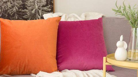 Miulee Velvet Pillow Covers, 2-Pack
