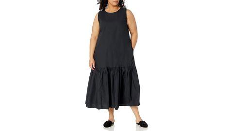 The Drop Ilana Sleeveless Wide-Hem Poplin Maxi Dress