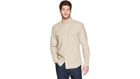 Goodthreads Slim Fit Long-Sleeve Linen and Cotton Blend Shirt