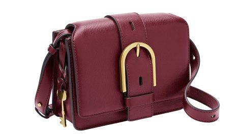 Fossil Wiley Leather Flap Crossbody Handbag