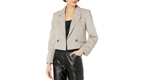 Kendall + Kylie Double-Breasted Cropped Blazer