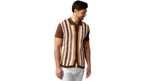 Stacy Adams Short-Sleeve Knit Polo Shirt