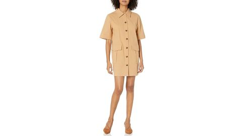 The Fifth Label Collared Short-Sleeve Utility Shirt Dress