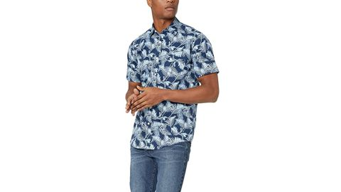 Amazon Essentials Regular Fit Short-Sleeve Print Shirt