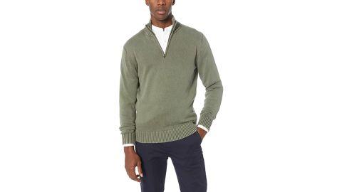 Goodthreads Soft Cotton Quarter-Zip Sweater