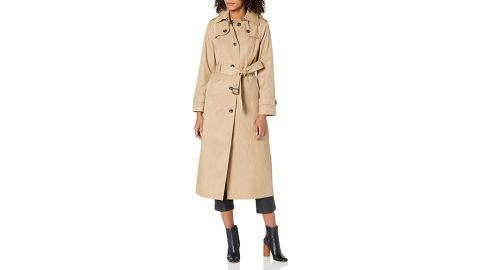 London Fog Single-Breasted Long Trench Coat