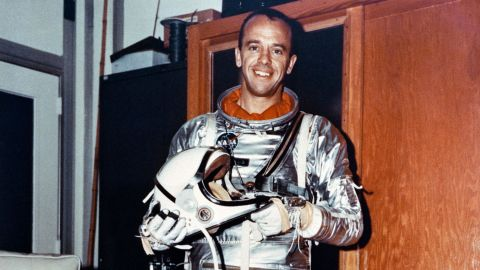 Less than a month after Gagarin's trip, astronaut Alan Shepard became the first American to travel into space. On May 5, 1961, Shepard piloted Freedom 7, the first manned mission in the Mercury program. His suborbital flight lasted a little more than 15 minutes.