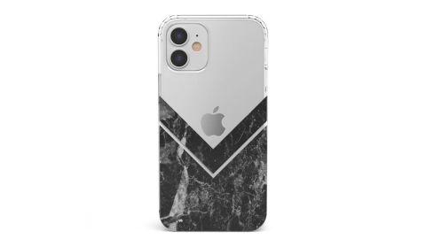 Sleek Black V Marble Clear Case