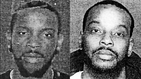 """Police used an image of the suspect taken from a fake driver's license left at the scene (left) to run a facial recognition scan. It returned a """"high profile comparison"""" to Nijeer Parks (right). (Woodbridge Police Department)"""