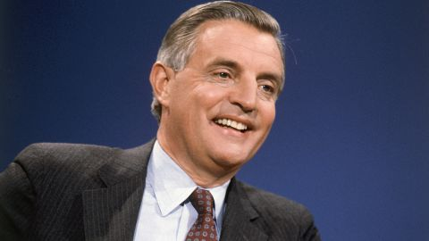 """Former Vice President Walter Mondale on """"Face The Nation"""" on March 7, 1982."""