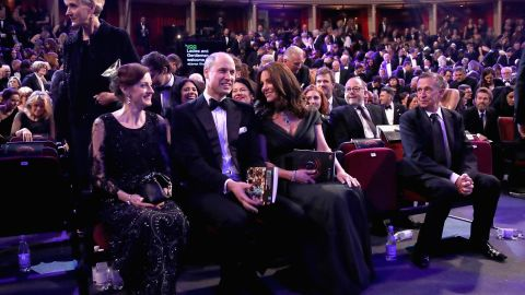 The couple attends the BAFTA Awards in London on Sunday, February 18, 2018.
