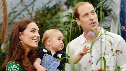 The royal family celebrates Prince George's first birthday with a trip to the Natural History Museum in July 2014.