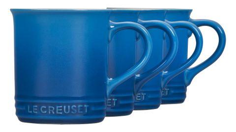 Le Creuset 14-Ounce Stoneware Mugs, Set of 4